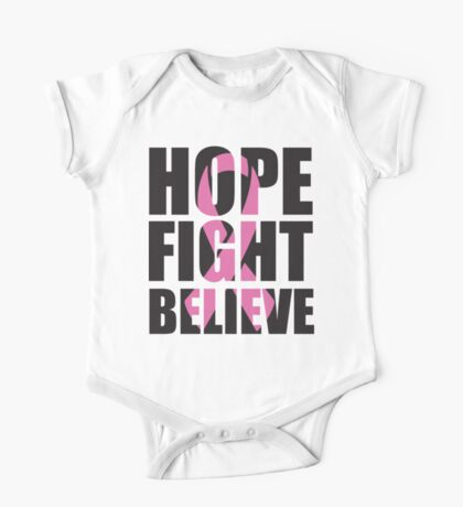 Hope Fight Believe - cancer shirt One Piece - Short Sleeve