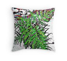 Australian Bracken fern Throw Pillow