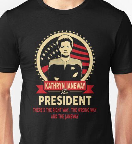 Kathryn Janeway for President Unisex T-Shirt