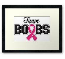 Team Boobs  Framed Print