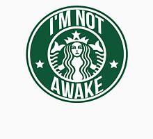 """I'M NOT AWAKE"" Grumpy Starbucks Logo Print Unisex T-Shirt"