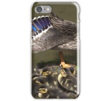 Stretching momma duck iPhone Case/Skin