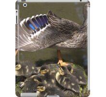 Stretching momma duck iPad Case/Skin