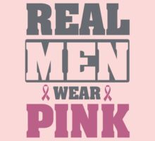 Real men wear pink Kids Clothes
