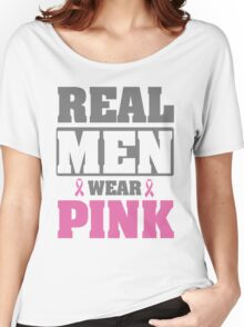 Real men wear pink Women's Relaxed Fit T-Shirt