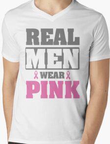 Real men wear pink Mens V-Neck T-Shirt
