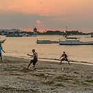 Sunset Football by Werner Padarin
