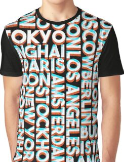 Tokyo - City names typo graphic Graphic T-Shirt