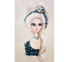 Fashion Illustration Marie Antoinette Owl Hairstyle Photographic Print