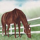 Grazing Horse by Yvonne Carter