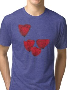 Red red love Tri-blend T-Shirt