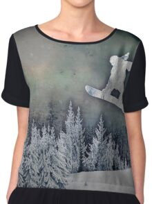 The Snowboarder Chiffon Top