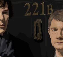 Sherlock and John - 221B Sticker