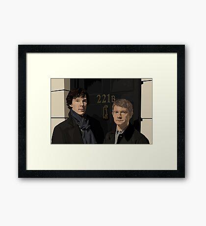 Sherlock and John - 221B Framed Print