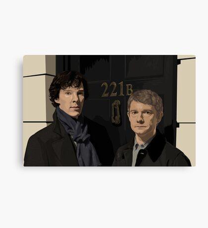 Sherlock and John - 221B Canvas Print
