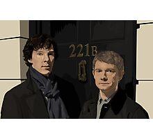 Sherlock and John - 221B Photographic Print