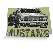 Mustang Muscle Car Greeting Card