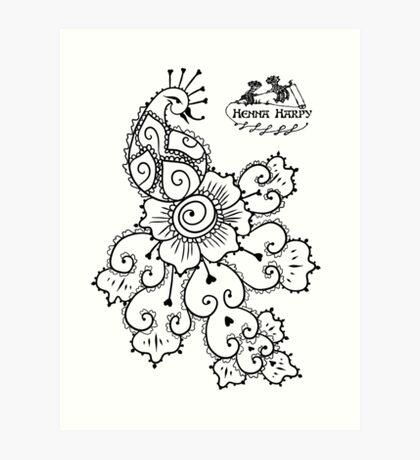 Henna Harpy Peacock  Art Print