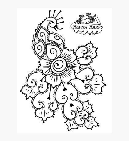 Henna Harpy Peacock  Photographic Print