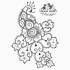 Henna Harpy Peacock  by ellejayerose
