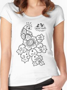 Henna Harpy Peacock  Women's Fitted Scoop T-Shirt