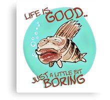 bored fish cartoon style funny illustration Canvas Print
