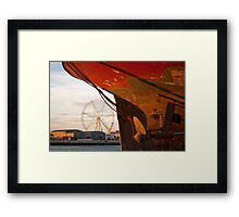 Peeking Under Alma Framed Print