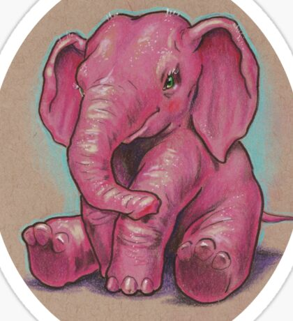Another Pink Elephant (they're everywhere!) Sticker