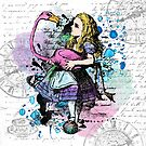 Alice in Wonderland collage by eviebookish
