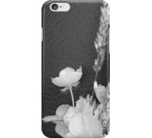 BLACK AND WHITE BUTTERCUP iPhone Case/Skin