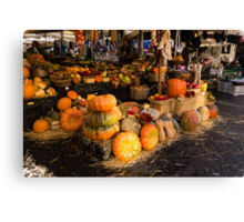 Italian Thanksgiving Harvest at Campo de Fiori in Rome, Italy Canvas Print