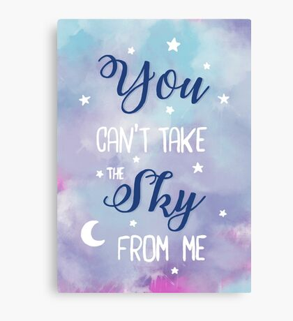 Firefly Hand Lettering Canvas Print