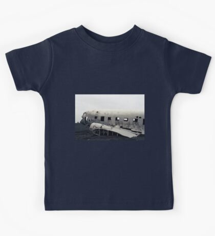 Airplain wreck on film, Iceland Kids Tee