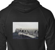 Airplain wreck on film, Iceland Zipped Hoodie