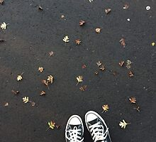 Converse and autumn leaves by emmamcgivern123