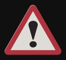 UK Road sign danger ahead exclamation mark by stuwdamdorp