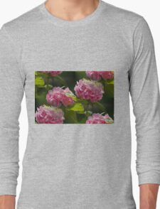 hydrangea in the garden Long Sleeve T-Shirt