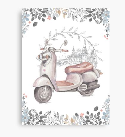 """""""Scooter""""  Canvas Print"""
