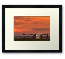 Liverpool Airport at sunset Framed Print