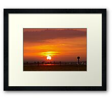 Sunset at Liverpool Airport Framed Print