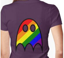 Boo The Gay Ghost Womens Fitted T-Shirt