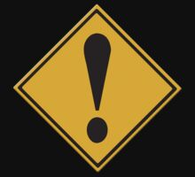 US Road sign danger ahead exclamation mark by stuwdamdorp