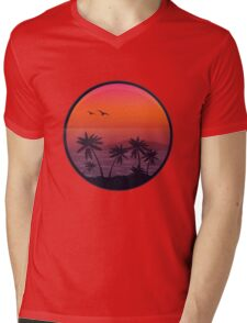 PANAMA BEACH SUNSET Mens V-Neck T-Shirt