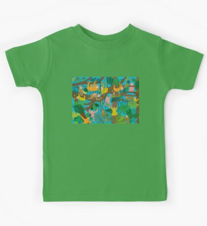 Happy Sloths Jungle  Kids Tee
