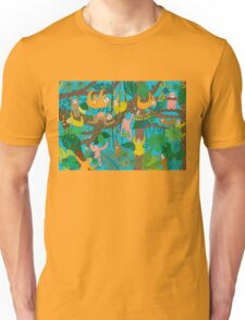 Happy Sloths Jungle  Unisex T-Shirt