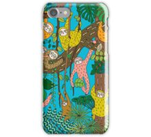 Happy Sloths Jungle  iPhone Case/Skin