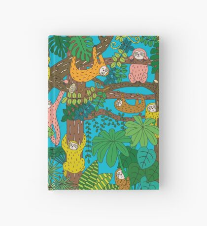 Happy Sloths Jungle  Hardcover Journal