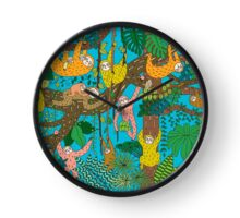Happy Sloths Jungle  Clock