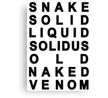 Metal Gear Solid - Snakes Canvas Print