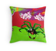 An Example of the Main Intelligent Species on the Exoplanet Araneae Throw Pillow